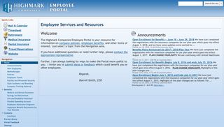 Highmark Companies Employee Portal