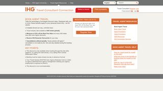 Holiday Inn Travel Agent Portal