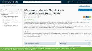 Horizon View Html Access Web Portal