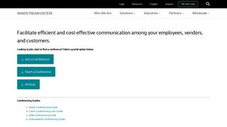 Http Www Windstreambusiness Com Customer Web Conference Portal