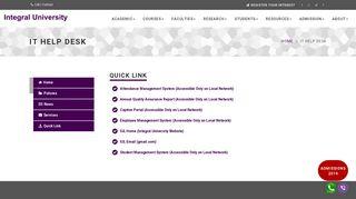 Integral University Captive Portal