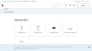 Internet Box Web Portal