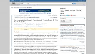 Intrahepatic Portal Venous Shunt