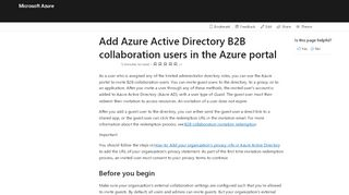 Invite User To Azure Portal