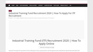 Itf 2018 Recruitment Portal