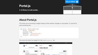 Javascript Portal Framework