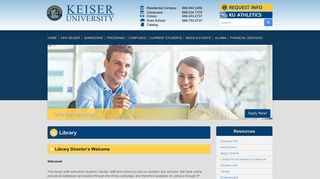 Keiser University Library Portal