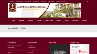 Kmtc Portal Application 2018