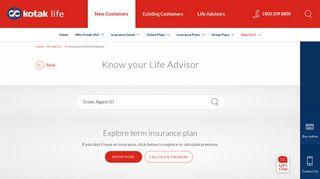 Kotak Life Insurance Advisor Portal - Find Official Portal