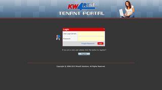Kw4rent Tenant Portal