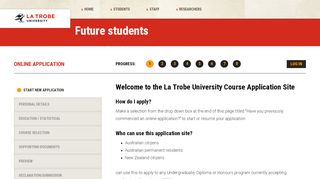 La Trobe University Online Application Portal