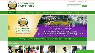 Landmark University Portal
