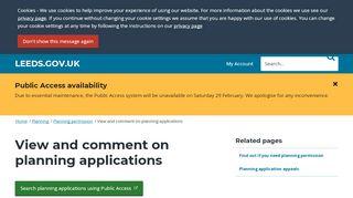 Leeds Planning Portal