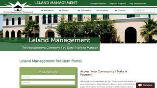 Leland Management Com Contents Resident Portal