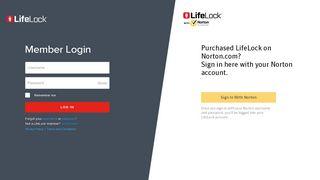 Lifelock Member Portal