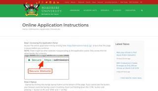 Makerere University Application Portal