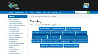 Malvern Planning Portal