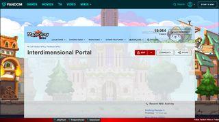 Maplestory Interdimensional Portal