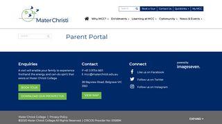 Mater Christi Parent Portal