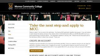 Mcc Online Application Portal