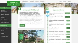 Mcdaniel College Portal