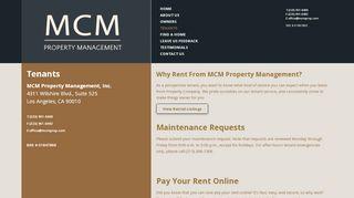 Mcm Property Management Tenant Portal