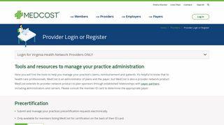 Medcost Provider Portal