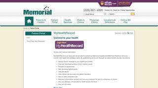 Memorial Hospital Health Portal