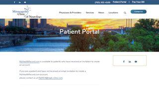 Minneapolis Clinic Of Neurology Patient Portal