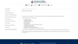 Mt Maria Parent Portal