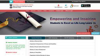 National Scholarship Portal Login
