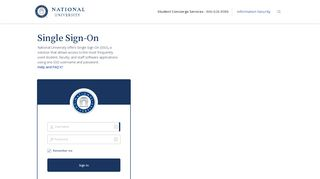 National University Student Portal
