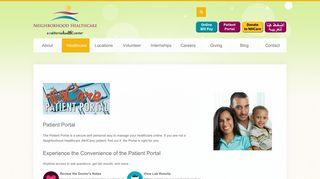 Neighborhood Healthcare Portal