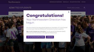 Northwestern Applicant Portal