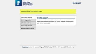 Nottingham Online Portal