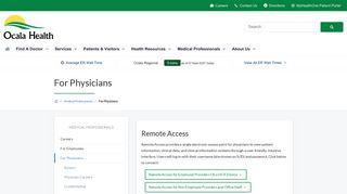 Ocala Regional Physician Portal