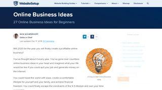 Online Portal Business Ideas