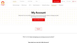 Origin Energy Online Portal