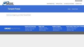 Orosz Properties Tenant Portal