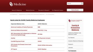 Ou Medical Center Employee Portal