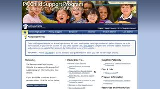Pa Child Support Portal