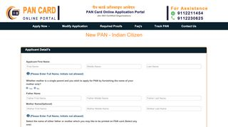 Pan Card India Online Portal