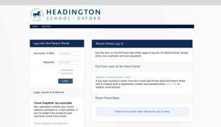 Parent Portal Headington