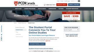 Pcdi Canada Student Portal