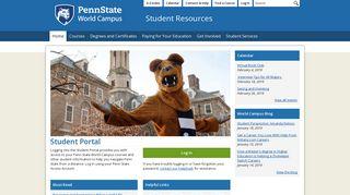 Penn State World Campus Student Portal