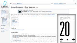 Portal 2 Chamber 20