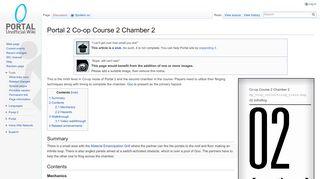 Portal 2 Coop Course 2