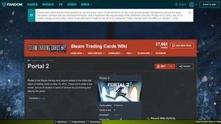 Portal 2 Trading Cards