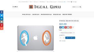 Portal Macbook Decal