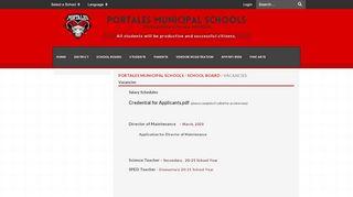 Portales Schools Job Openings